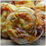 Triple Cheese and Bacon Pinwheels