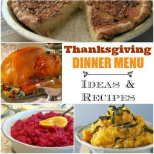 THANKSGIVING DINNER MENU IDEAS & RECIPES