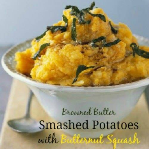BROWNED BUTTER SMASHED POTATOES WITH BUTTERNUT SQUASH