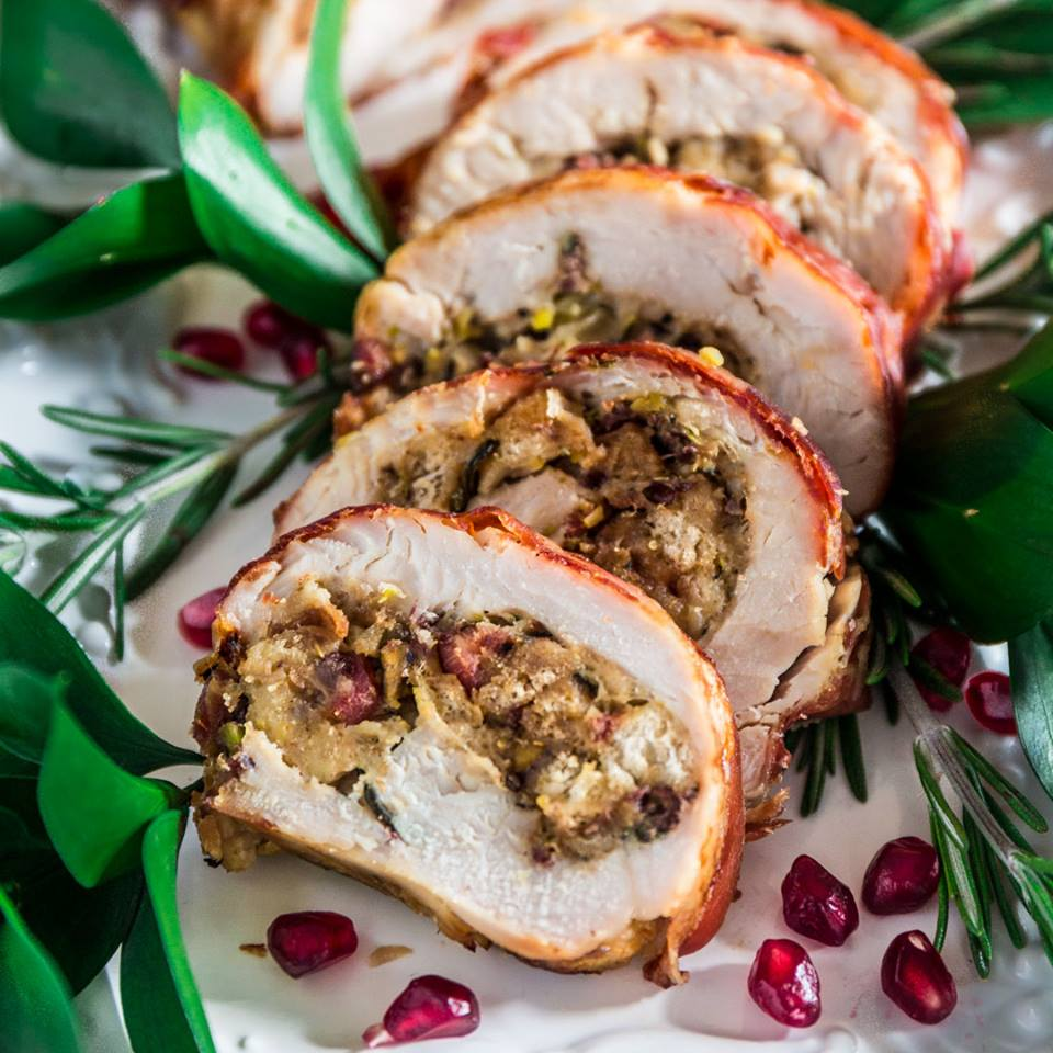 PROSCIUTTO WRAPPED TURKEY ROULADE
