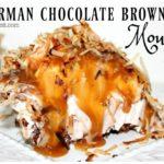 GERMAN CHOCOLATE BROWNIE MOUSE PIE