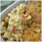 EASY CHEESY CHICKEN MAC AND CHEESE CASSEROLE
