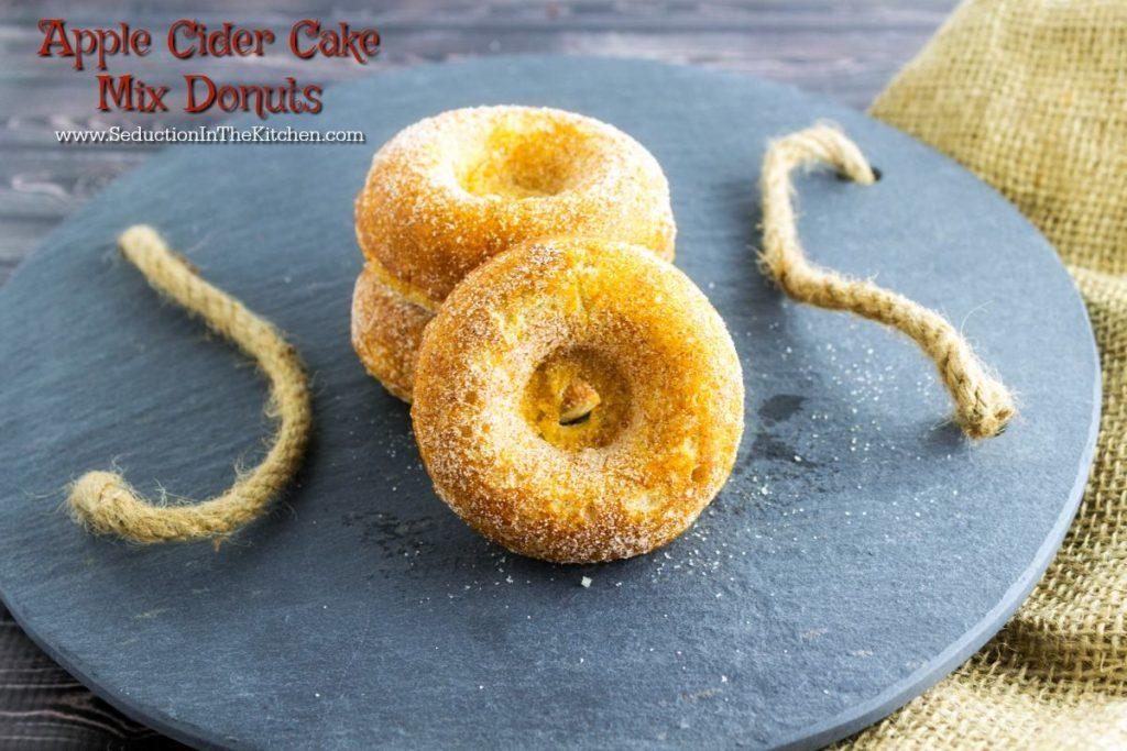 APPLE CIDER CAKE MIX DONUTS