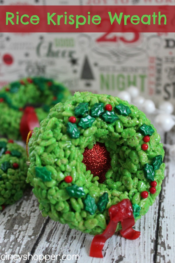 RICE KRISPIE TREAT WREATHS