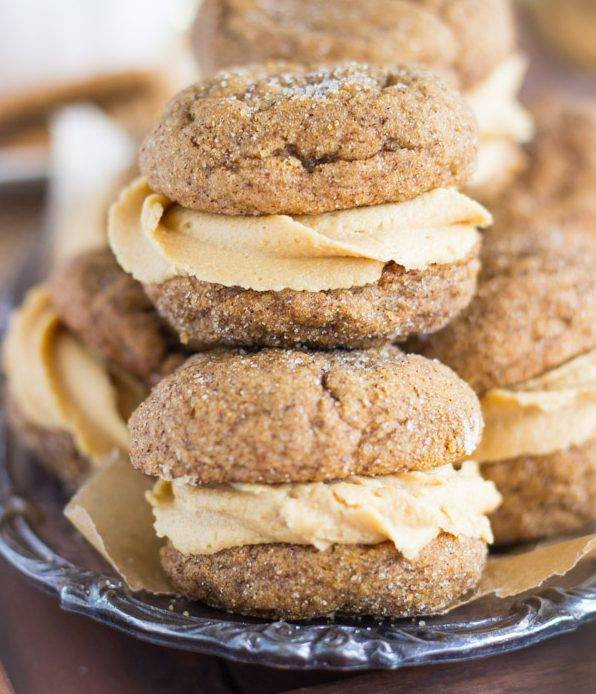 SOFT MOLASSES GINGER COOKIES W/ COOKIE BUTTER BUTTERCREAM