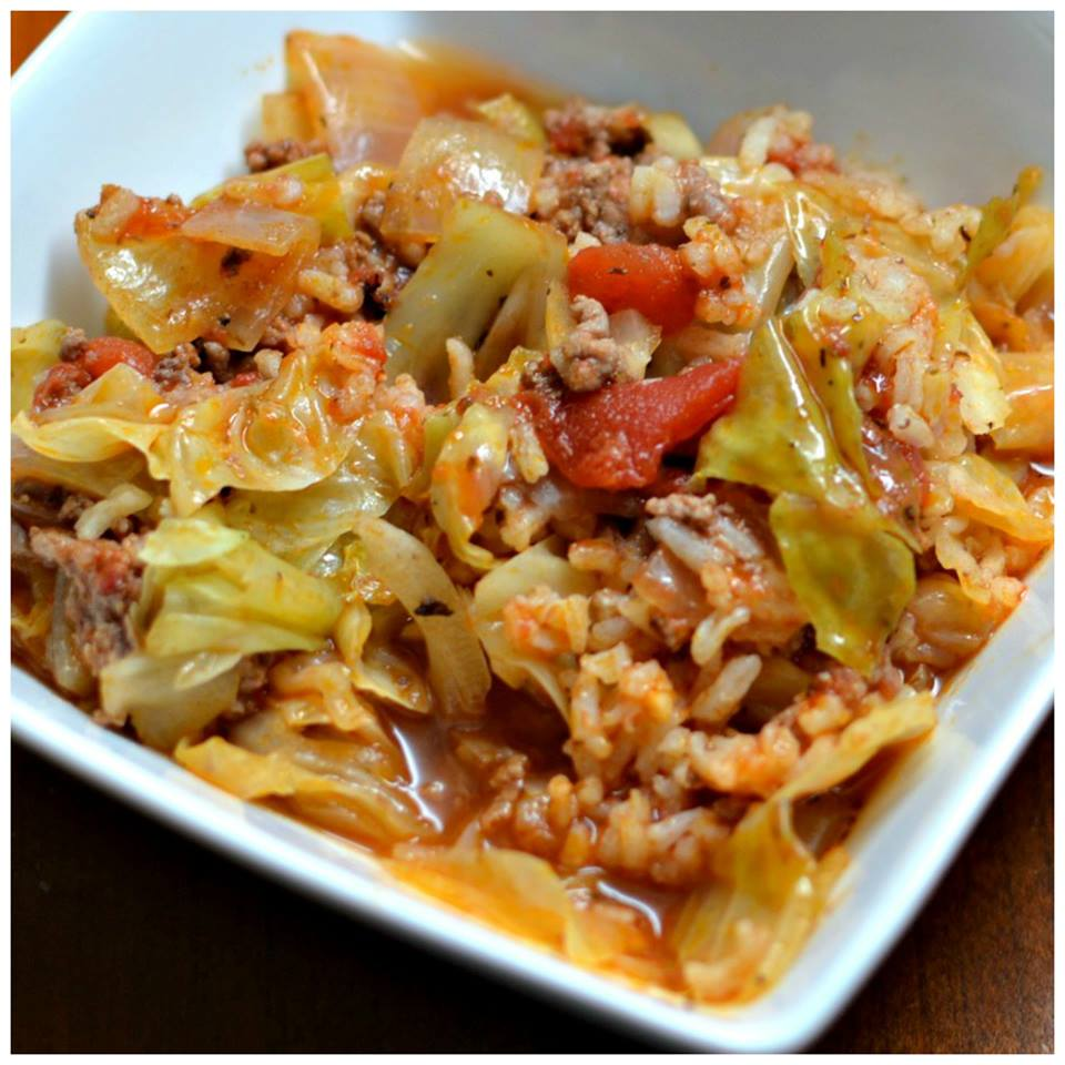 EASY CABBAGE ROLL SKILLET