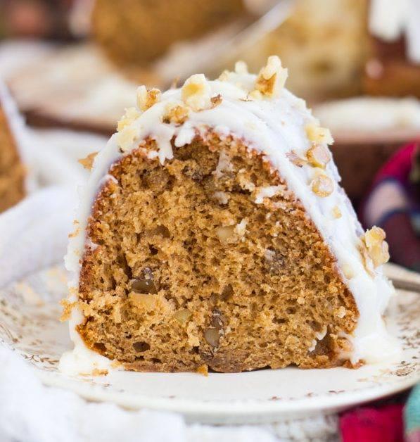 WHISKEY WALNUT SPICE CAKE