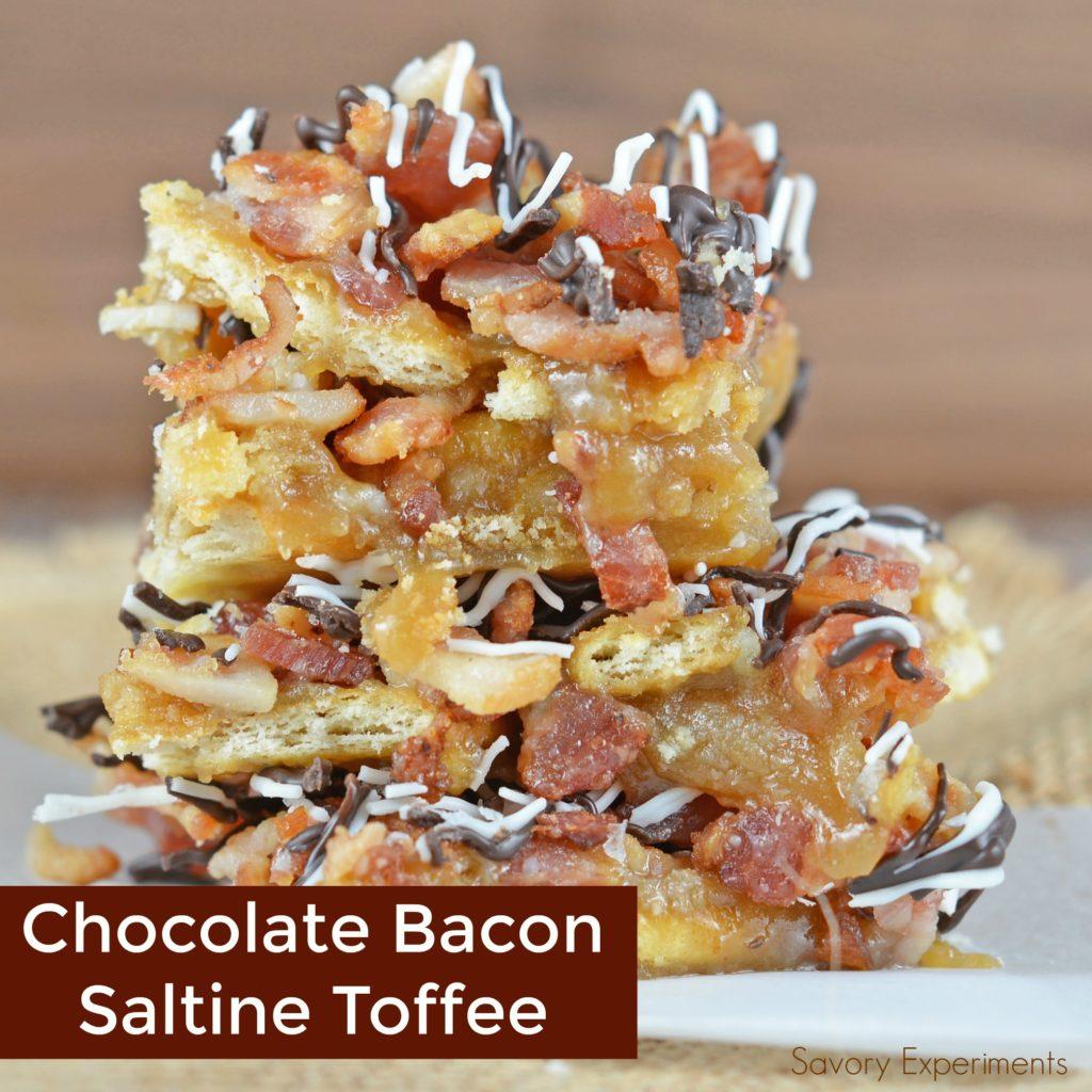 CHOCOLATE BACON SALTINE TOFFEE
