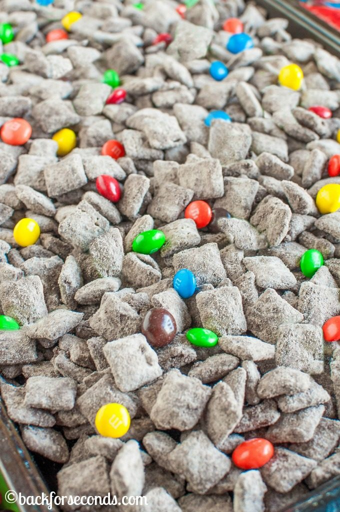 PEANUT BUTTER BROWNIE M & M MUDDY BUDDIES