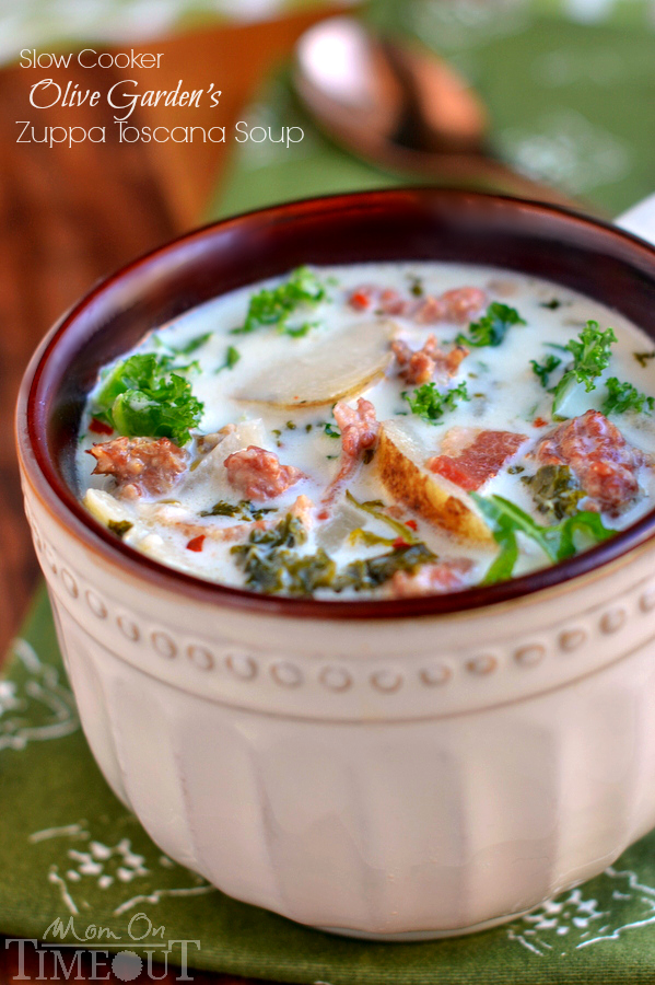 Slow cooker olive garden toscana soup copy cat recipe - Olive garden soup and salad dinner ...