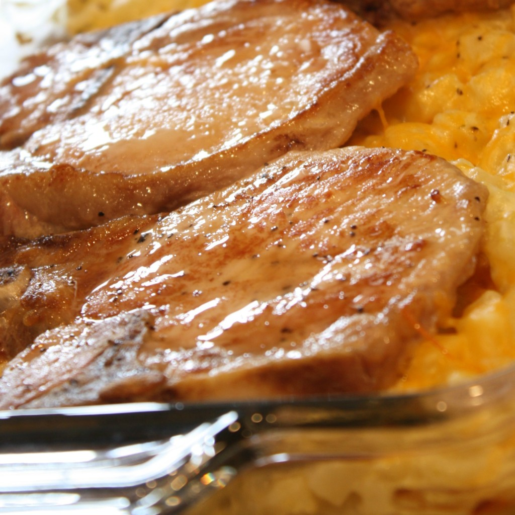 PORK CHOP AND HASHBORWN CASSEROLE