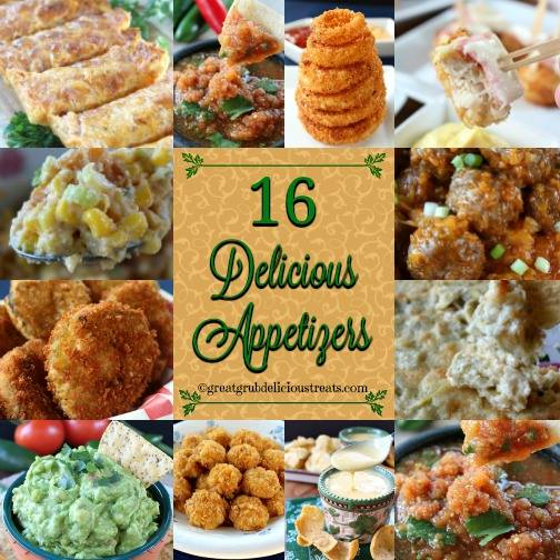 16 DELICIOUS APPETIZERS