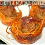 SPAGHETTI &MEATBALL POPPERS (OR SPAGHETTI SQUASH FOR LOW CARB)