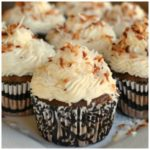 CHOCOLATE BANANA CUPCAKES WITH COCONUT CREAM FROSTING