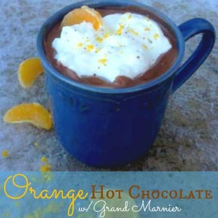 ORANGE HOT CHOCOLATE WITH GRAND MARNIER