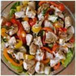 CHICKEN FAJITA SALAD WITH CHIPOTLE RANCH