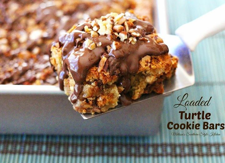 Maria's Mixing Bowl | Loaded Turtle Cookie Bars