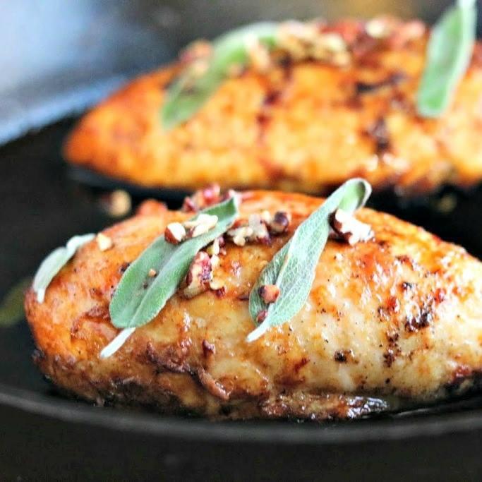 Maple Sage Glazed Chicken