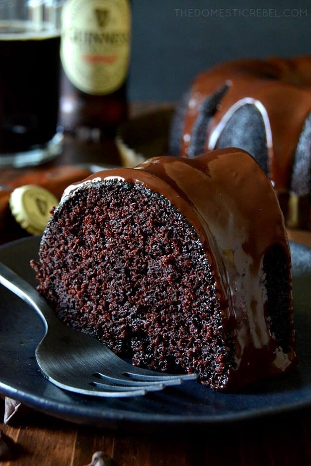 Chocolate Guinness Stout Cake with Chocolate Ganache