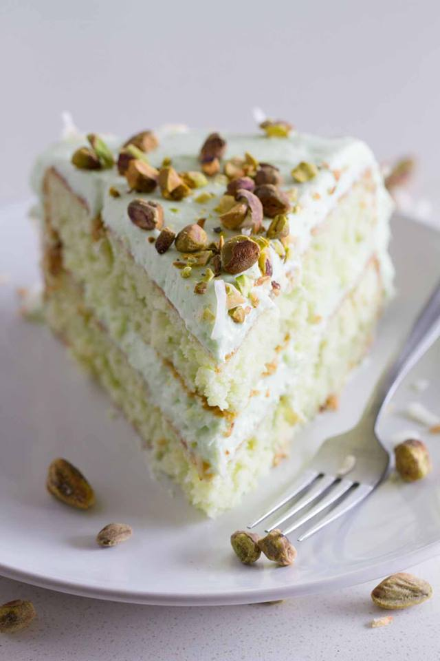 Coconut Pistachio Pudding Cake