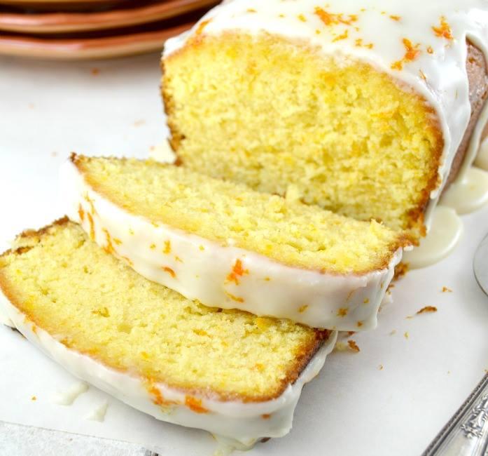 Orange Pound Cake with Orange Syrup & Orange Glaze