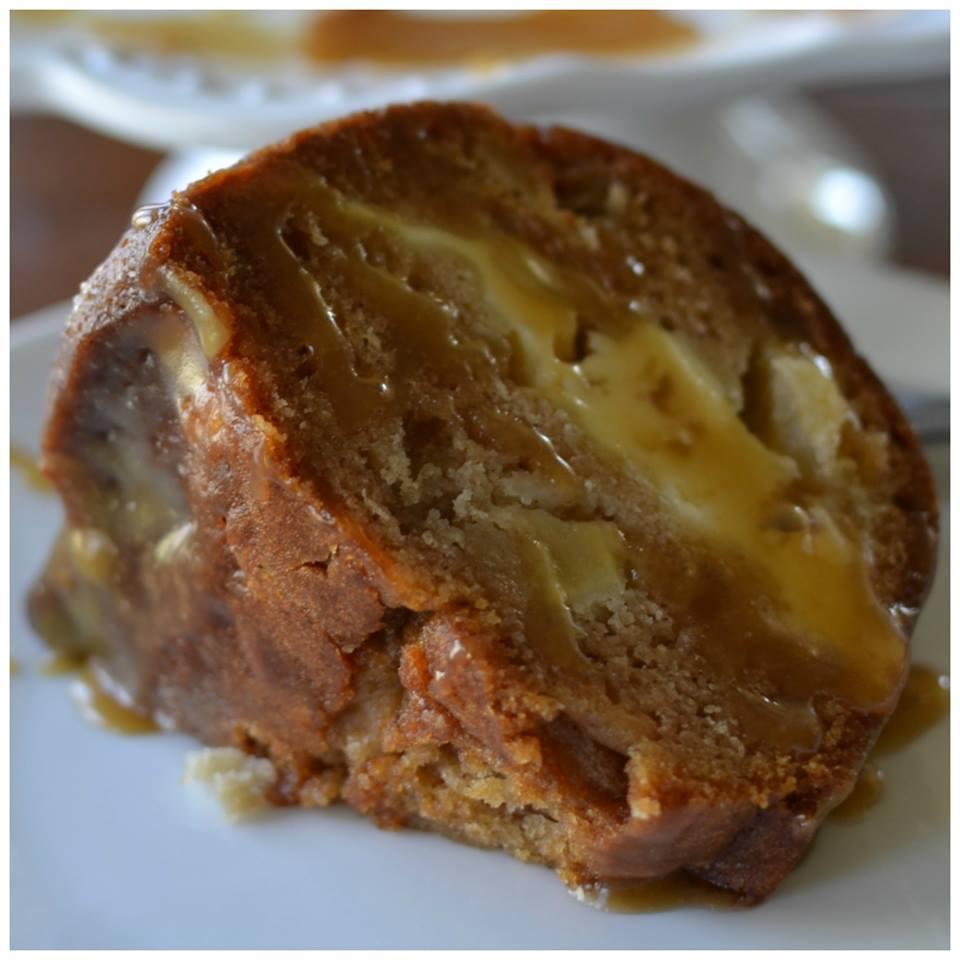 Apple Caramel Cream Cheese Bundt Cake