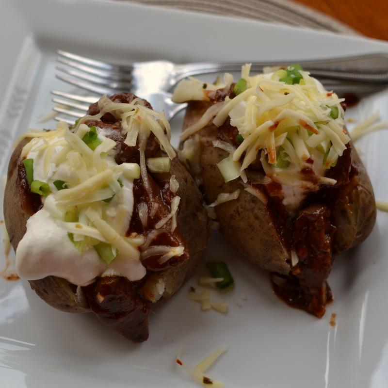 Barbecue Steak Stuffed Potatoes
