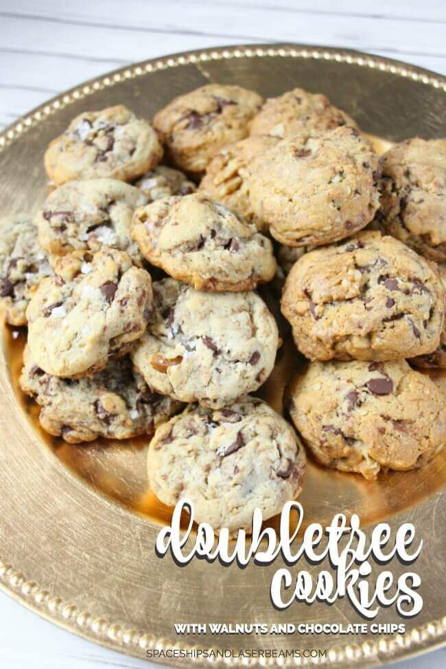 Double Tree Cookie with Walnuts and Chocolate Chips