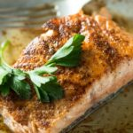 Pan Seared Salmon with Lemon White Wine Butter Sauce