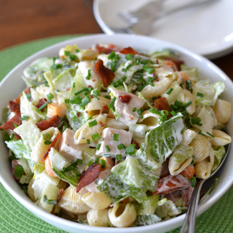 Quick Easy Turkey Club Pasta Salad