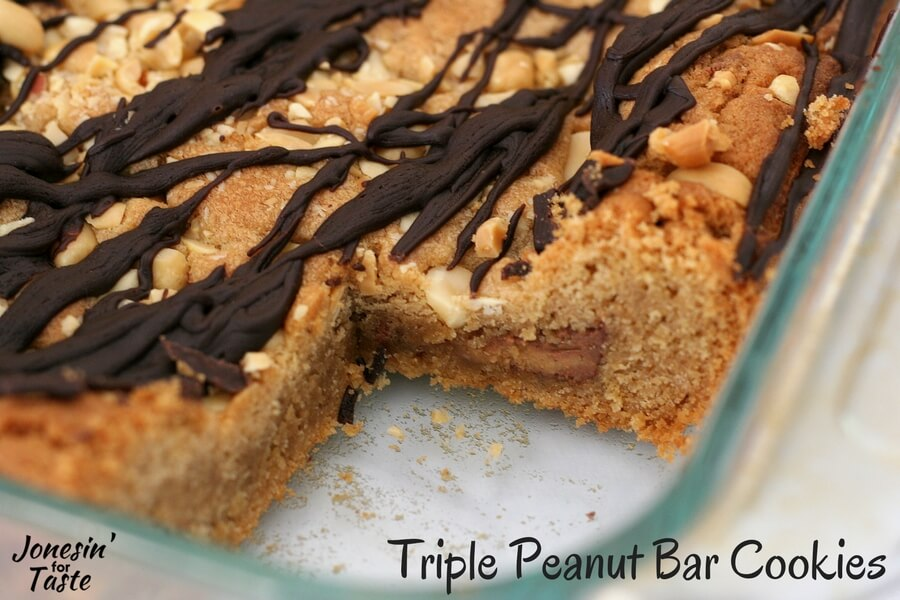 Triple Peanut Butter Cookie Bars