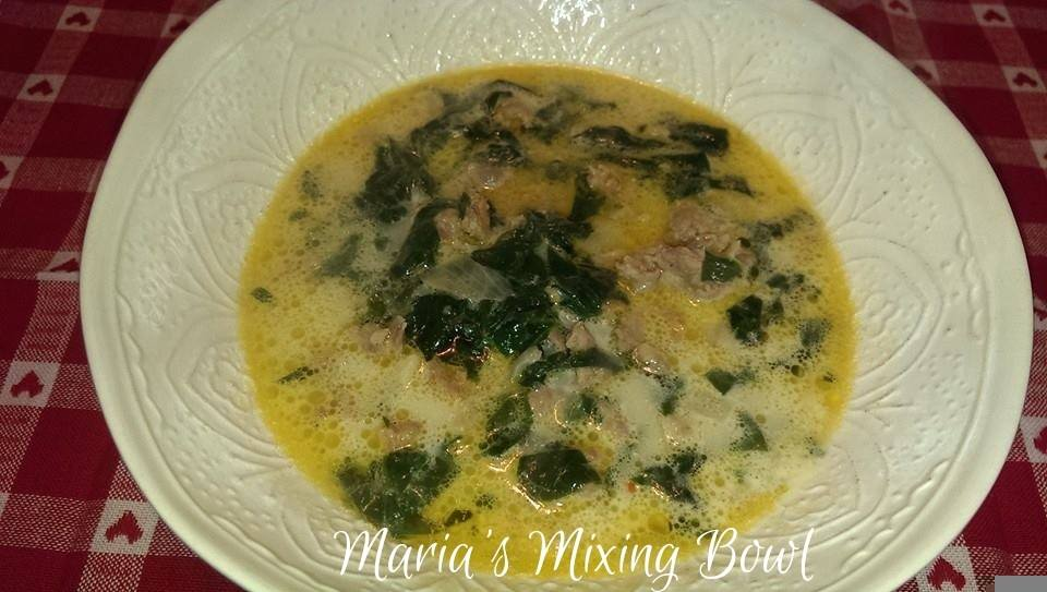 Copy Cat Olive Garden Low Carb Zuppa Toscana Soup
