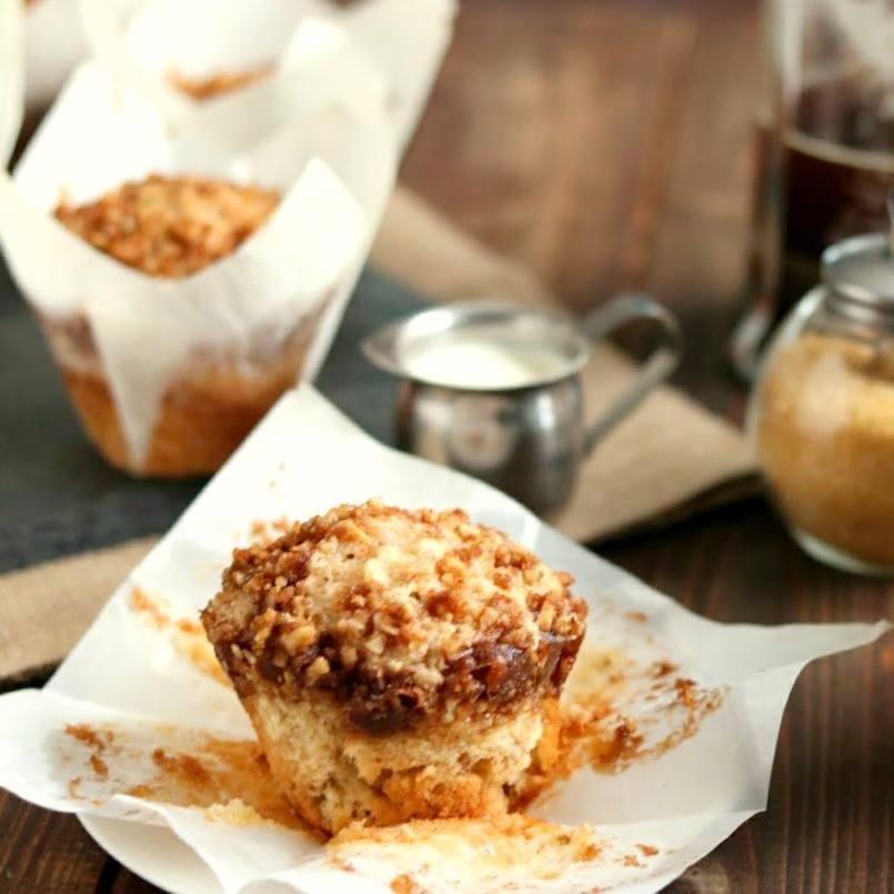 Sour Cream Coffee Cake Streusel Muffins