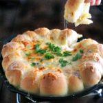 Warm Spinach & Artichoke Dip with Skillet Bread