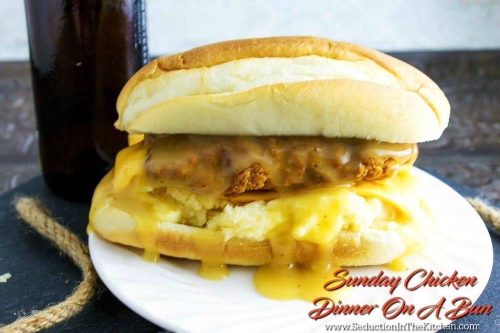 Sunday Chicken Dinner On A Bun