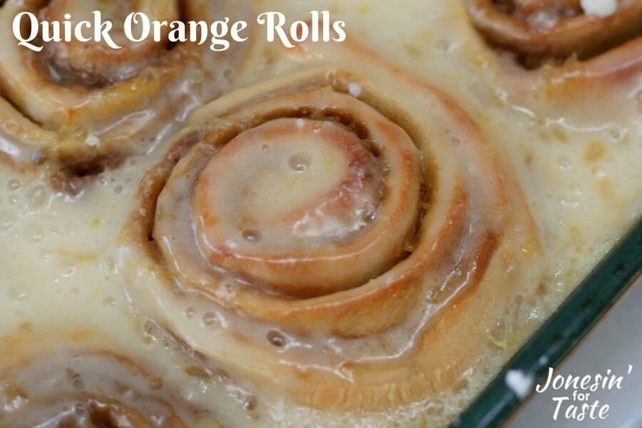Quick Orange Rolls