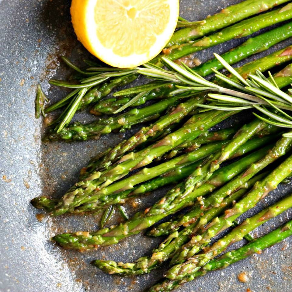 ... Mixing Bowl | Skillet Roasted Asparagus with Garlic, Rosemary & Lemon