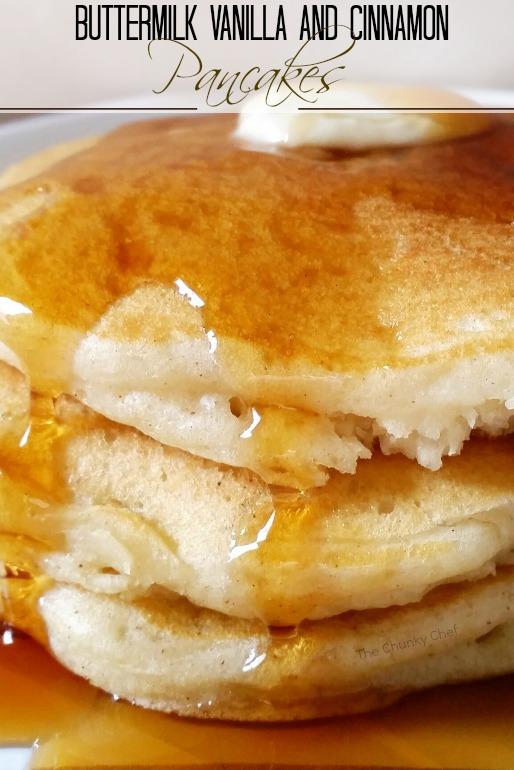 Buttermilk Vanilla and Cinnamon Pancakes