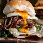 Drunken Aussie Beef Burger