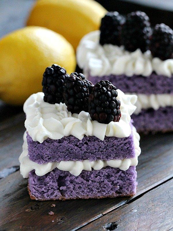Vanilla Purple Cake with Lemon Buttercream