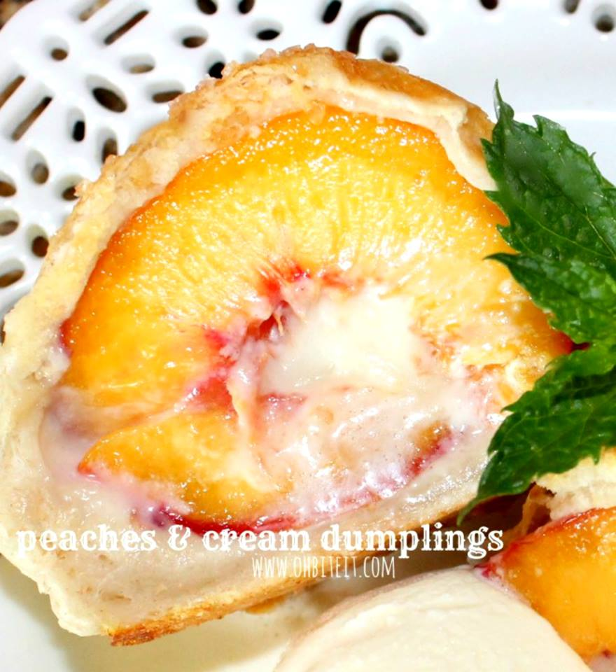 Peaches and Cream Dumplings
