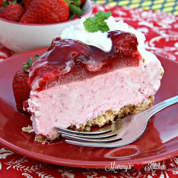 No Bake Strawberry Ice Cream Cake