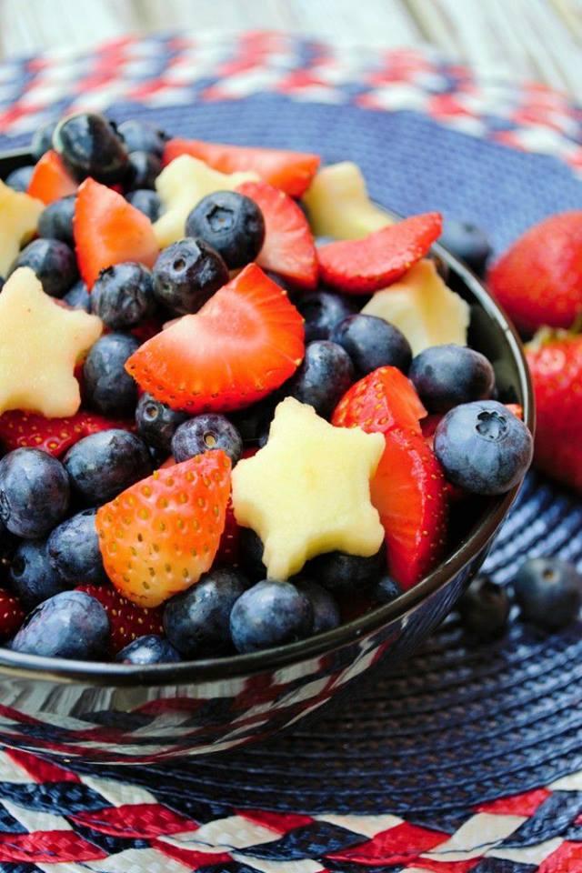 Red White & Blue Fruit Salad