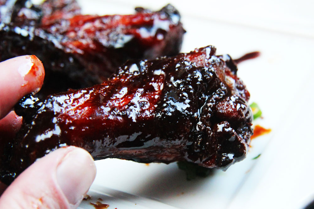 Chinese 5 Spice Chicken Wings with Sticky Soy Balsamic Glaze