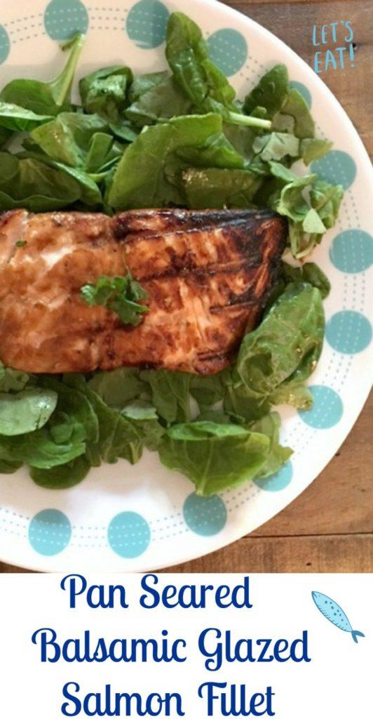 Pan Seared Balsamic Glazed Salmon Fillet