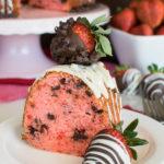 Strawberry Chocolate Chip Bundt Cake
