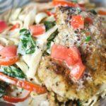 Tuscan Garlic and Chicken Fettuccine