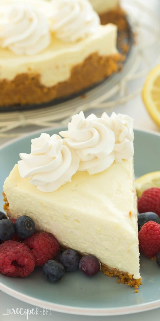 No Bake Lemon Cheesecake Maria S Mixing Bowl