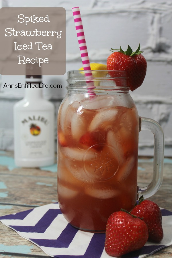 Spiked Strawberry Iced Tea