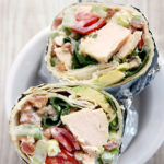 Bacon Lettuce Avocado Tomato Chicken Salad Wrap